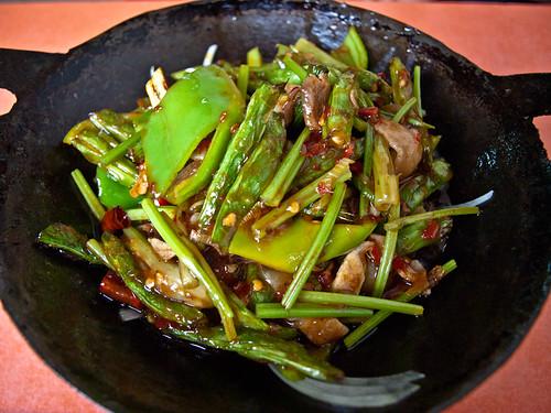 Comida china - verduras con cerdo