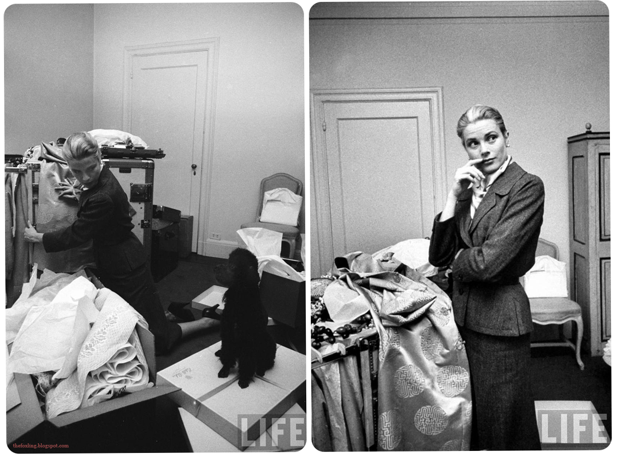 Grace Kelly Packing for her wedding