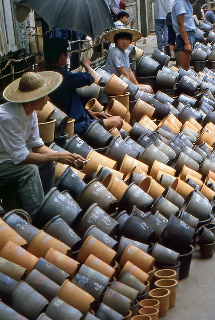 Pottery vendors in Shanghai