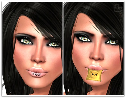 WCF Freebies & Dollarbies - le*se Whore Couture Lip Tattoo & Epic Omai KawaiiCondom Nom