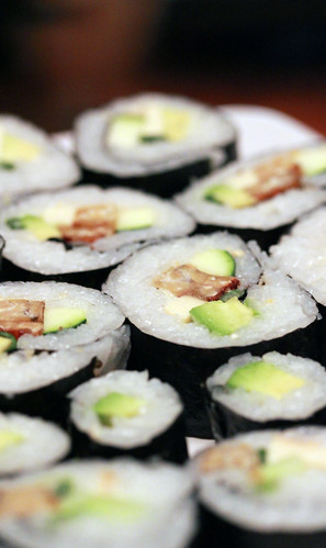 vegan sushis