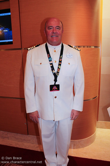 Meeting the Disney Magic's Captain John