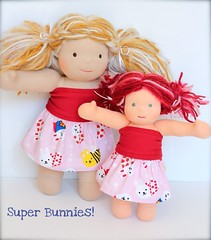 "PREORDER: Super Bunny Skirts for Easter! 10"", 12"" & 15"" doll sizes available"