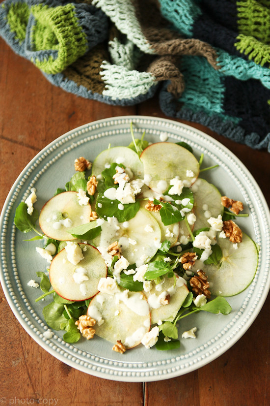 jamies apple and watercress salad