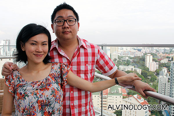 Rachel and I, on the rooftop of Oasia Hotel