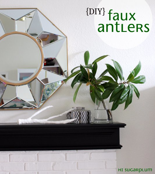 Hi Sugarplum!: {Pinterest Challenge Day! } DIY Faux Antlers