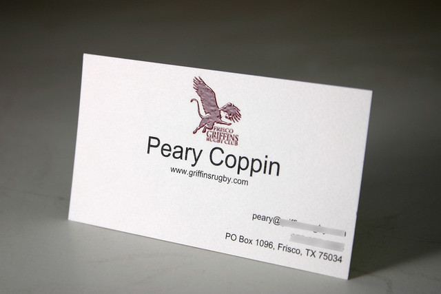 BUSINESS CARD with Raised Ink