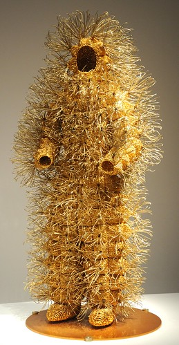 Gold wire man, African contemporary art, Seattle Art Museum, Seattle, Washington, USA by Wonderlane