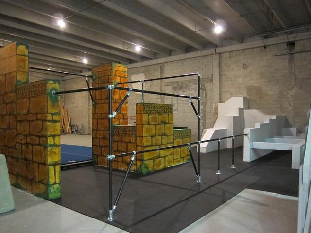 KEE KLAMP Parkour Konstruktion in der Miami Freerunning Academy