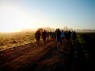 walking to the starting line