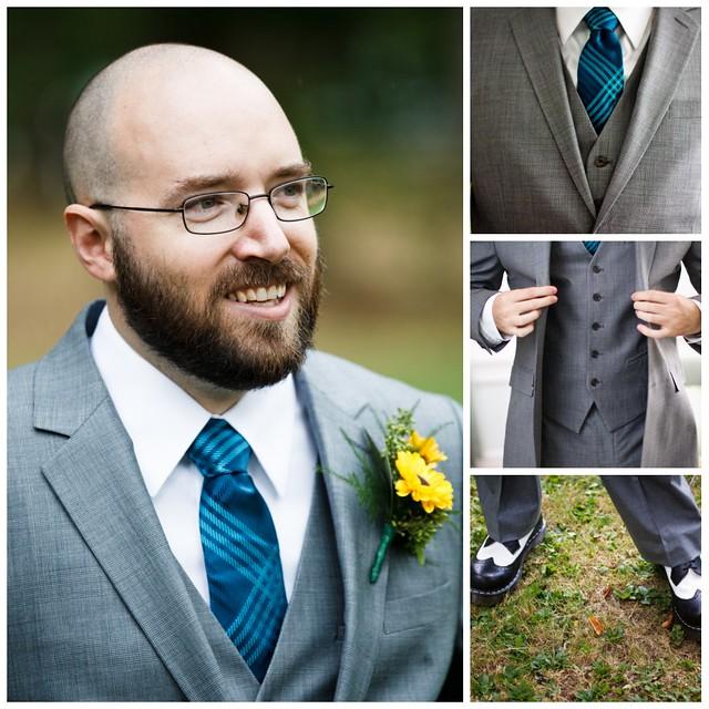 groom's attire collage