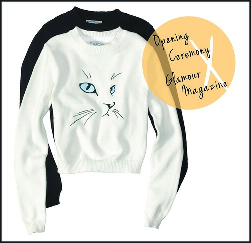 Opening Ceremony X Glamour Cat Sweater