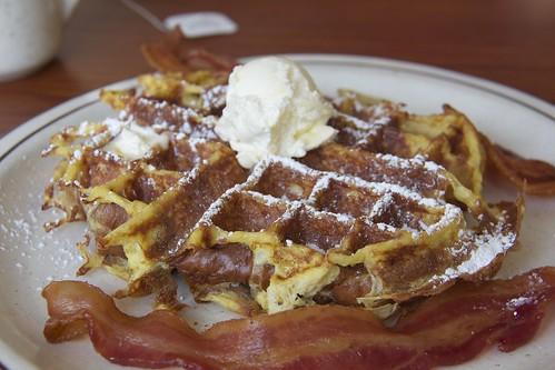 Waffle at Le Peep's