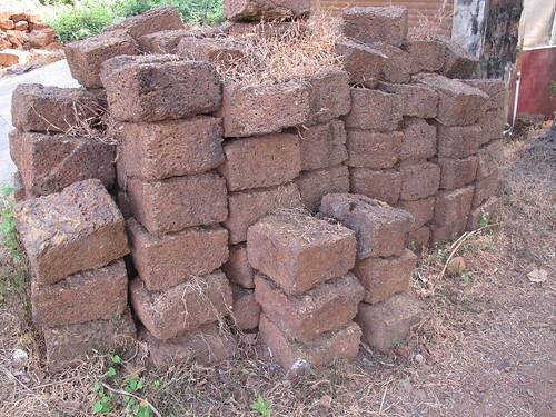Goa, local stone cut into large bricks