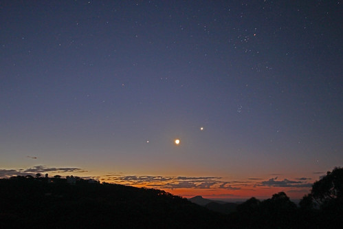 Venus, Jupiter, Moon and the top of the SSO