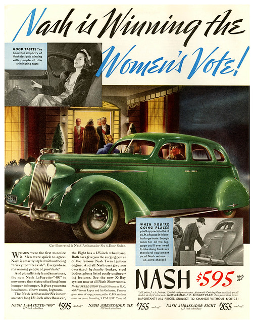 Women Vote For the 1937 Nash
