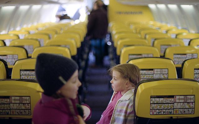 W samolocie.