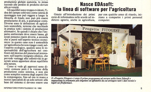 Progetto Fitogest su Informatore Fitopatologico 1992