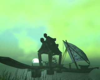 Old Feathermooon Stronghold Docks Moonrise