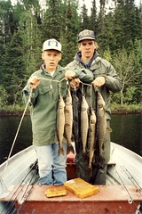 Two Boys with Fish