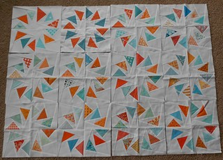 Geese in a Ring quilt progress