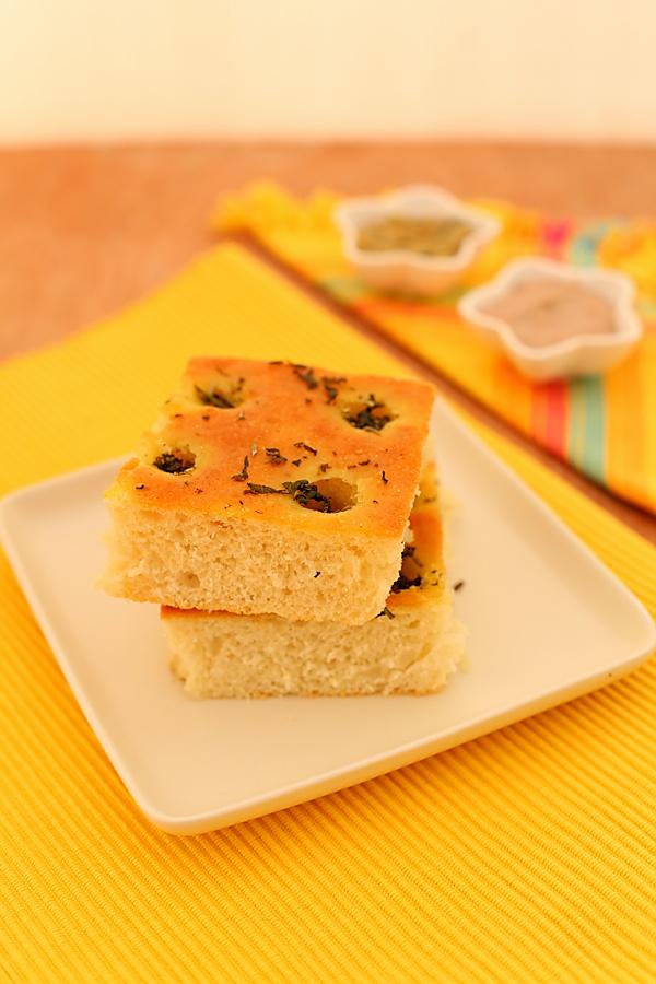 Basil & Rosemary Focaccia Bread