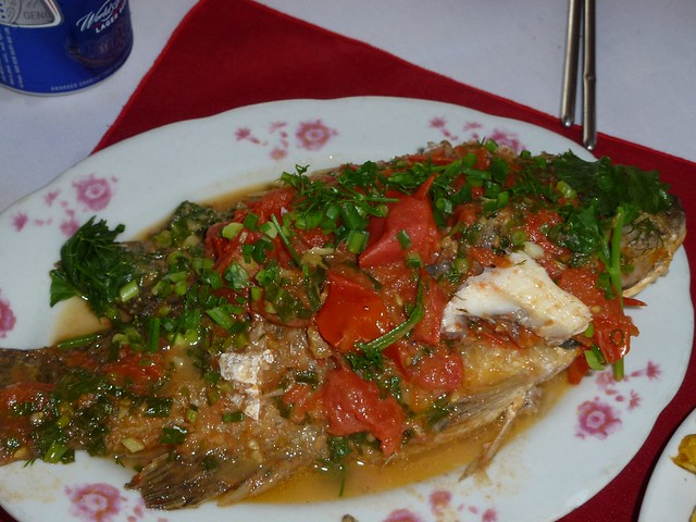 Fish in a tomato sauce