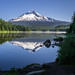 Mt. Hood reflected in Trillium Lake by GeorgeOfTheGorge