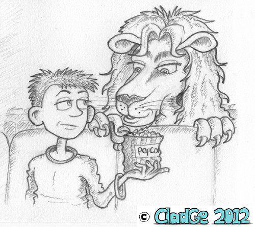 The Lion in the Cinema - pencilled - 03