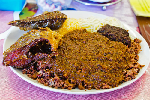 Waakye with Fish