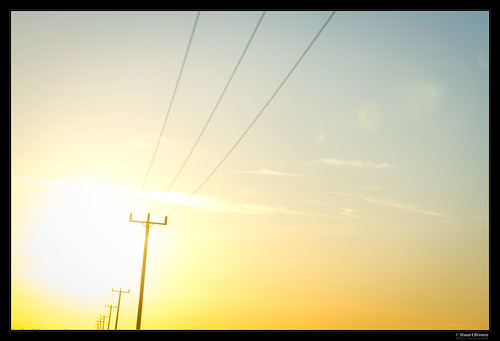 Sunset behind Telegraph Poles