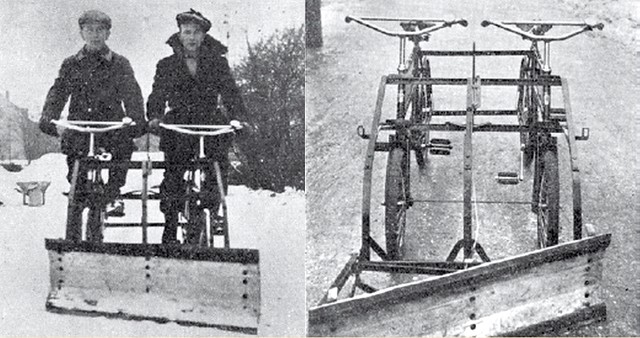 Bicycle Snowplough 1941