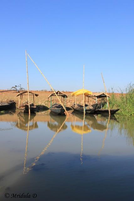 Boats at Mangalajodi, Odisha, India