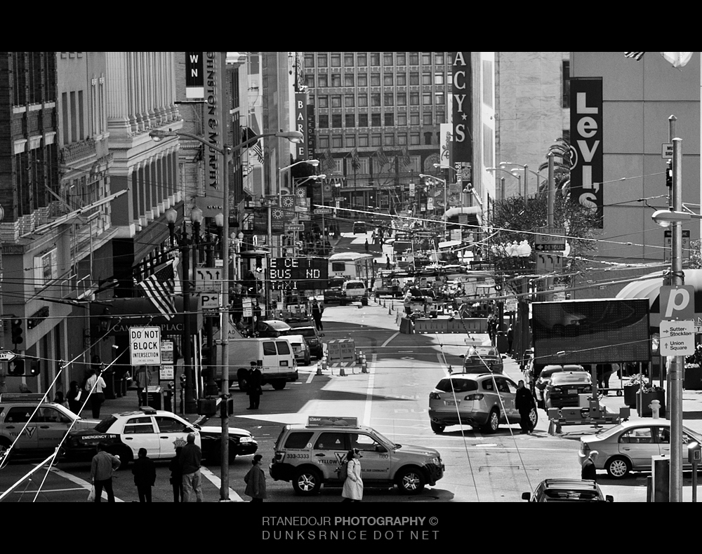 053 of 366 || Downtown San Francisco B&W.