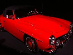 race car(1.0), automobile(1.0), automotive exterior(1.0), vehicle(1.0), performance car(1.0), automotive design(1.0), mercedes-benz 190sl(1.0), antique car(1.0), classic car(1.0), vintage car(1.0), land vehicle(1.0), sports car(1.0),