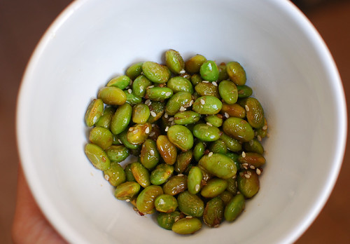 Roasted Soy Beans with Soyaki and Sesame Seeds