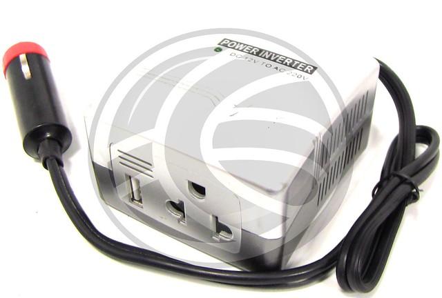 Inversor de corriente de 12 vdc a 220 vac de 200 w con usb - Inversor de corriente ...