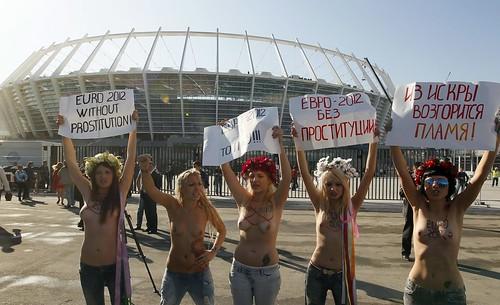 UKRAINE SOCCER EURO 2012 FEMEN PROTEST