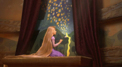 Rapunzel painting lights