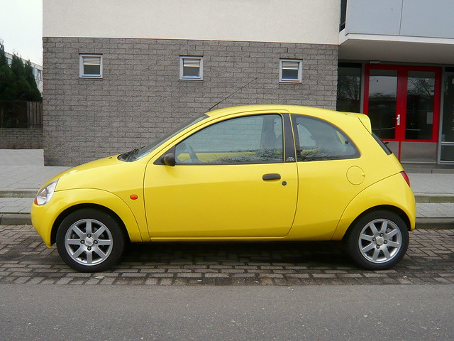 yellow ford ka 2000 flickr photo sharing. Black Bedroom Furniture Sets. Home Design Ideas