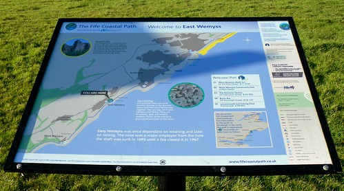 Map board at Wemyss, Fife, Scotland