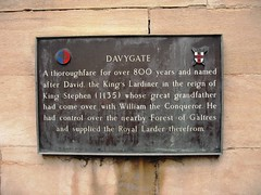 Photo of David, the King's Lardiner and Davygate bronze plaque