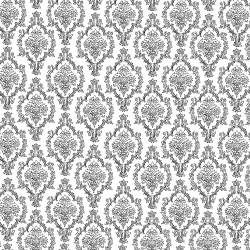 7 pencil damask  black and white 12 and a half inch sq 350 dpi melstampz
