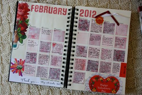 February Calendar Journal