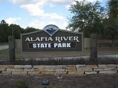 Alafia River State Park Sign