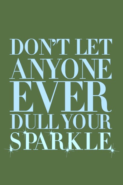 don't let dull sparkle green + blue
