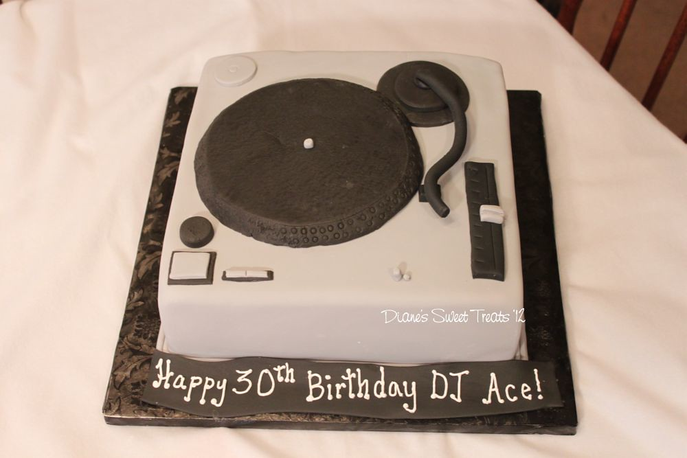 Marvelous Turntable Birthday Cake This Was For A New Customer Order Flickr Birthday Cards Printable Benkemecafe Filternl