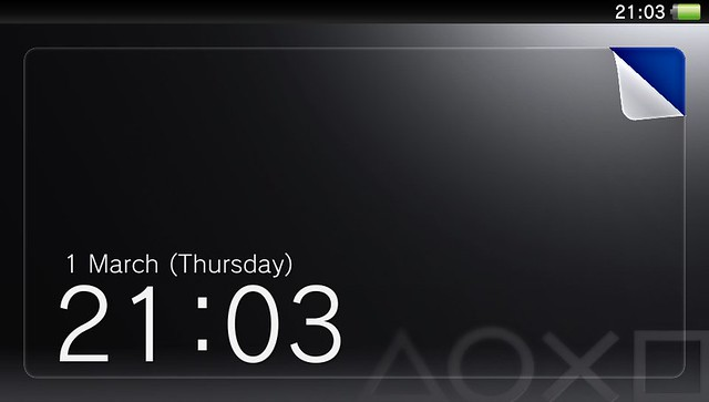 PS Vita lock screen