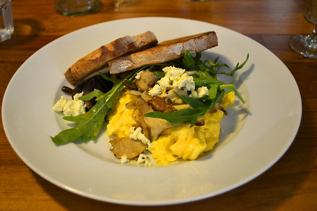 Scrambled Eggs and Mushrooms, Artichoke