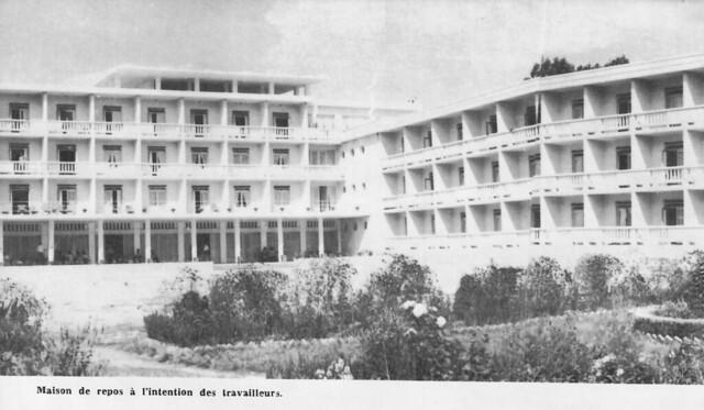 Maison de vacances, Durrës, Albanie, 1978. Shtëpi pushimesh për punëtorë. Durrës plazh (?), 1978.